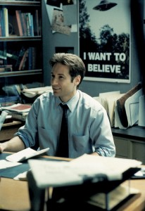 David Duchovny as Agent Fox Mulder.  CR:  FOX.