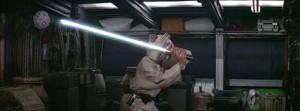 luke prova la spada laser