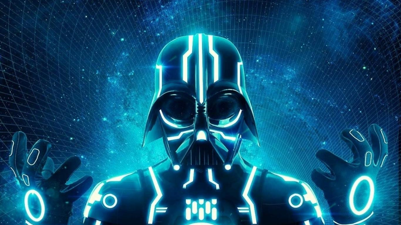 darth_vader_tron_science_fiction_neon_1366x768_18349