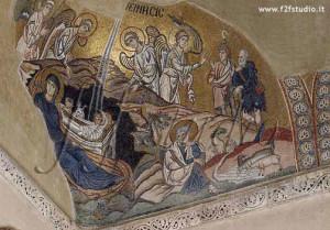 mosaico della Natività nel monastero del Daphni