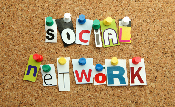 Social Network pinned on noticeboard