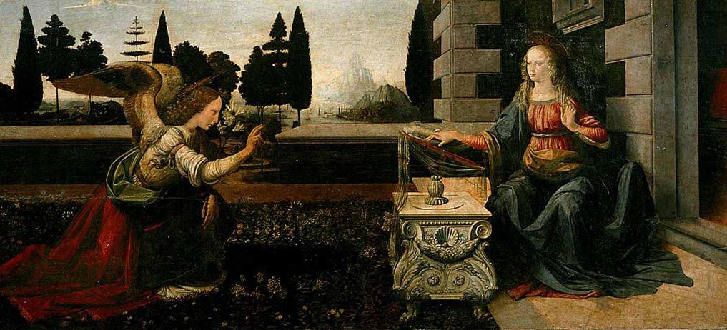 Annunciazione-Leonardo-da-Vinci-analisi