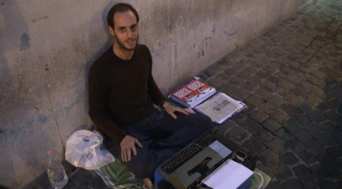 """Uno """"Scrittore per strada"""""""