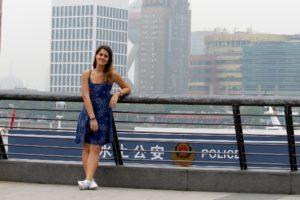 Silvia Palazzini durante il più recente viaggio in Cina