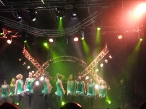 un'esibizione di danza irlandese al Bustofolk 2016