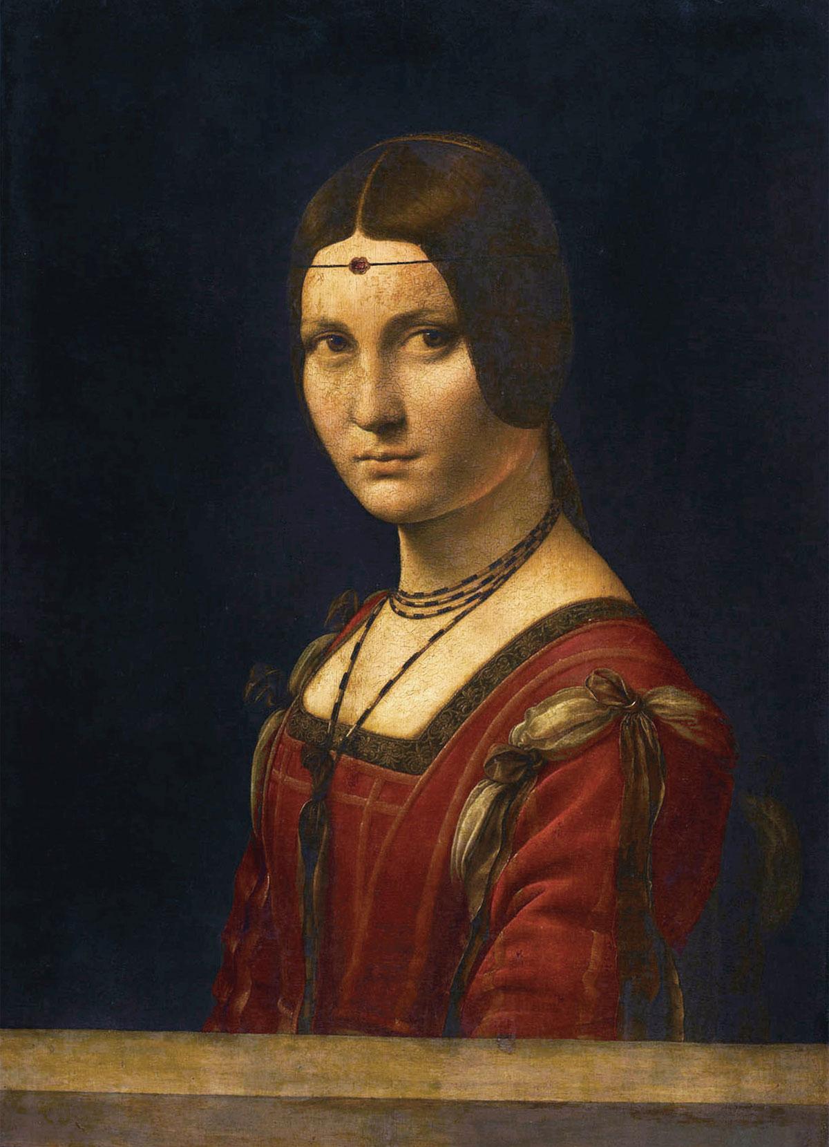 Belle-Ferronniere-Ritratto-di-Dama-Leonardo-da-Vinci-1482-1500