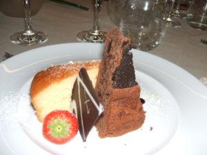 un piatto del ricco menu offerto lo scorso anno al Grand Hotel Imperiale