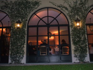 la serata gastronomica del 14 ottobre al Balbianello
