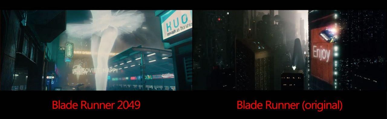 confronto blade runner 2049