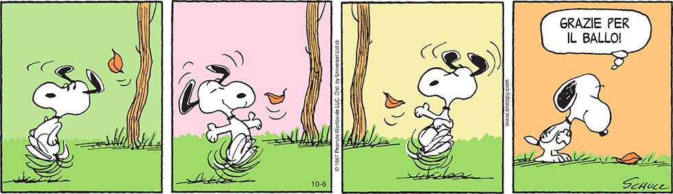 autunno snoopy